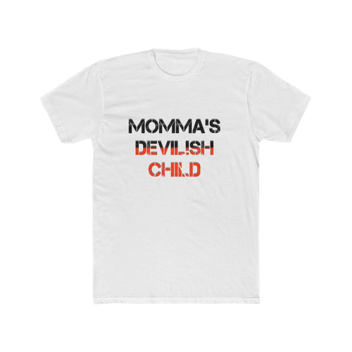 Men's Cotton Crew Tee devilish child