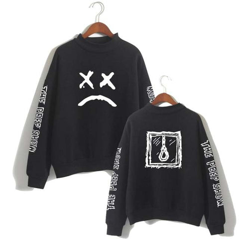 Lil Peep Sweatshirt Long Sleeved Pullover Tracksuit Antumn Fleece Turtleneck Hip Hop Hoodies Lil Peep