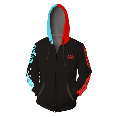 Sweatshirts My Hero Academy Cosplay Costume 3D Printed Zipper Hoodies For Men's Women's Hooded