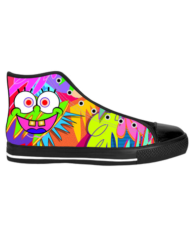 High Top Shoes Spongebob Black Sole High Tops