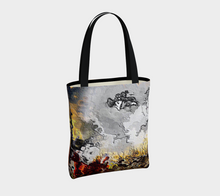 Tote bag Abstract distorted