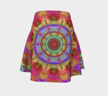 Flare skirt Abstract multi color