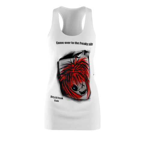 Women's Racerback Dress freaky side dlf