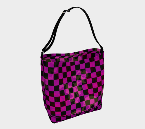 Day tote Purple skull