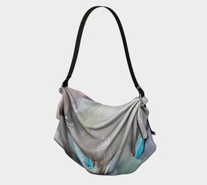 Origami tote Abstract face