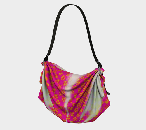 Origami tote Pink check