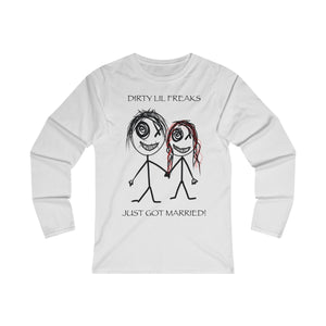 Women's Fitted Long Sleeve Tee DLF just married