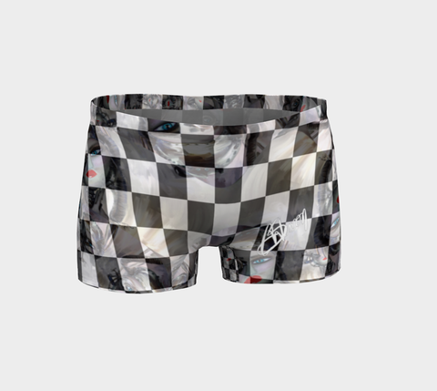 Women's Shorts Black check