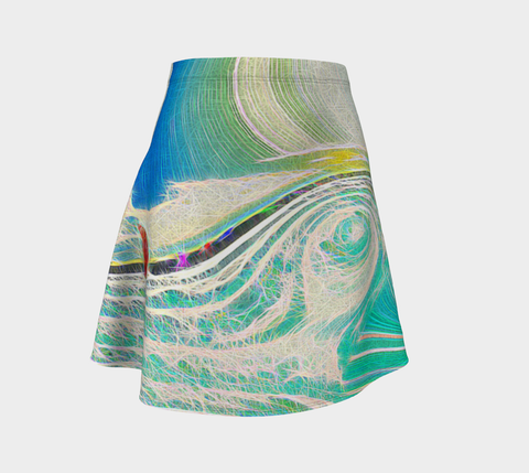 Flare skirt Ocean abstract
