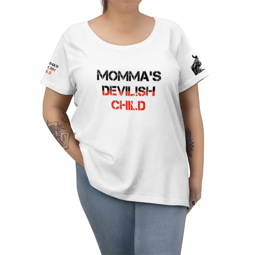 Women's Curvy Tee devilish child