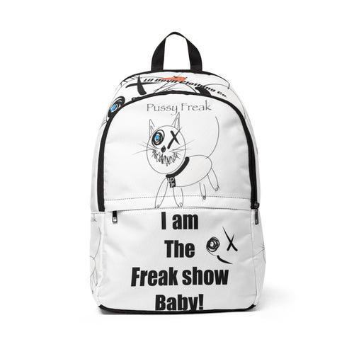 Unisex Fabric Backpack pussy freak dlf