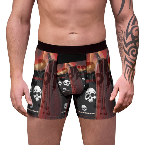 Men's Boxer Briefs Grindcore skulls