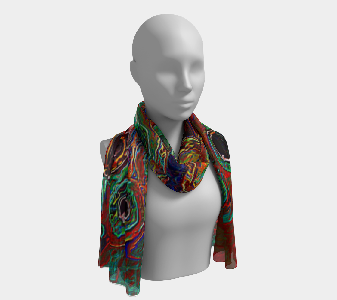 Long scarf Abstract fashion scarf2
