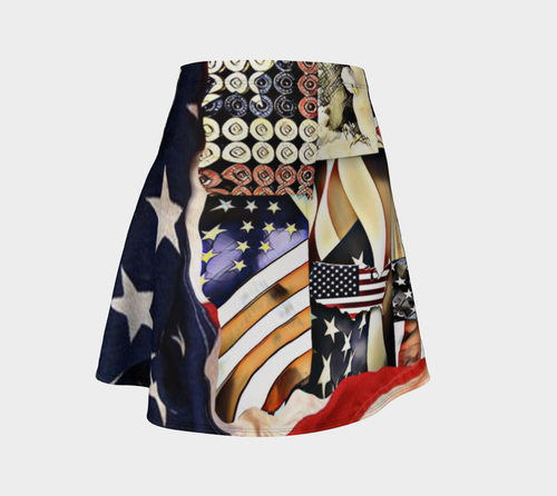 Flare skirt Patriot gunshells/flag