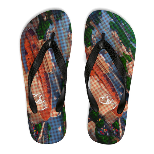 Unisex Flip-Flops TN stadium plaid42