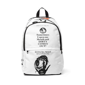 Unisex Fabric Backpack DLF dirty mouth