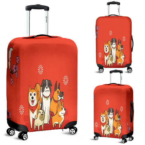 Luggage CoverNP I Love Dogs