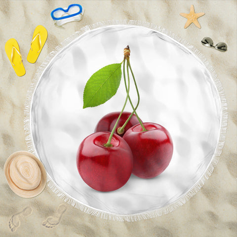 beach blanket round cherry