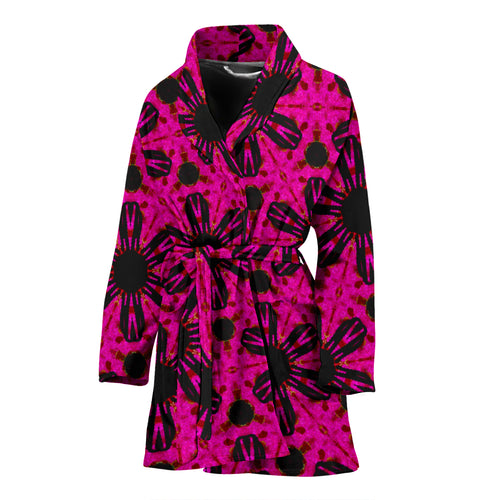 Women's robe Pink with flower19