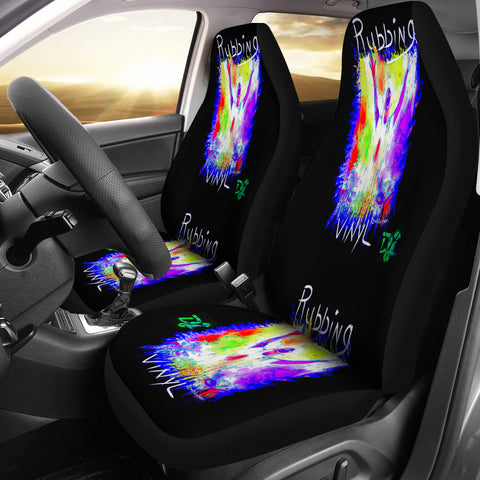 Car seat covers rubbing vinyl dj
