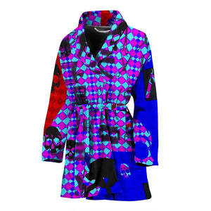 Women's robe  barber purple3