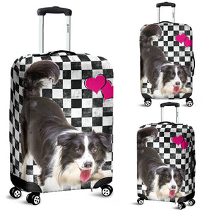 Luggage covers Border Collie