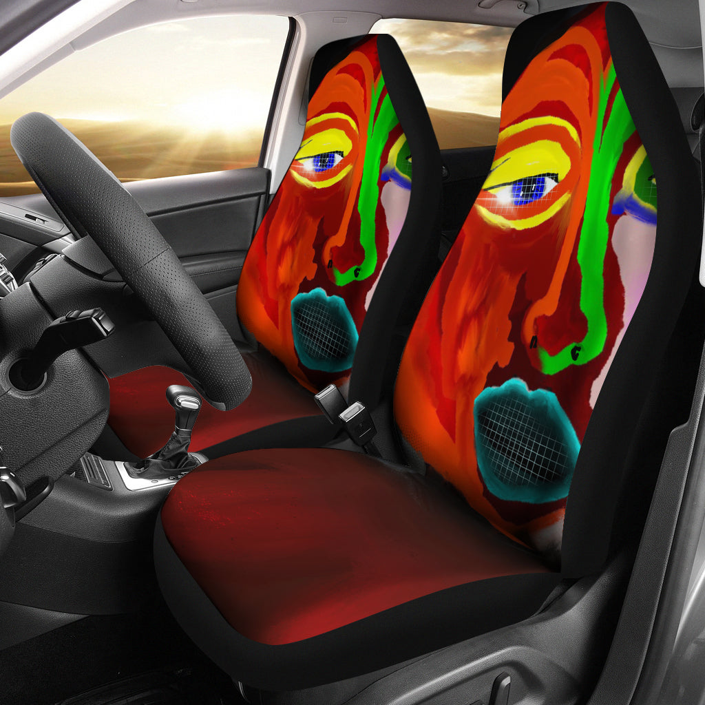 Car seat covers Abstract face