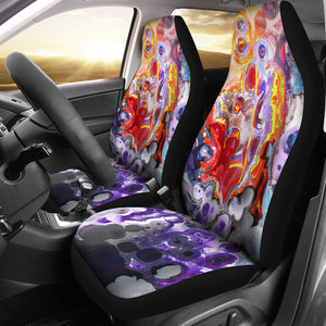 car seat covers abstract art