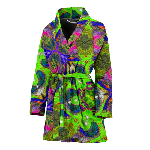 Women's robe  pink and green10