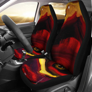 Car seat covers Abstract watcher