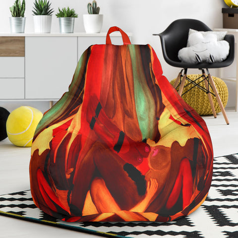 Bean bag chair  nude abstract