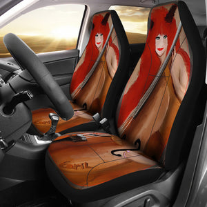 Car seat covers sexy little devil and bass