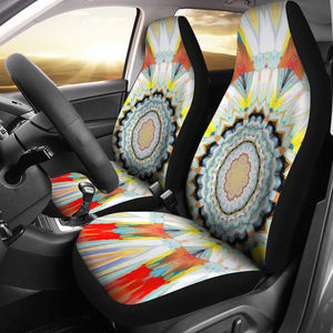 car seat covers abstract