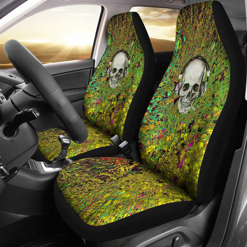 Car seat covers skullheadphones