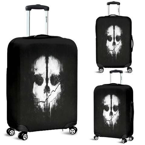 Luggage covers Skull Black & White