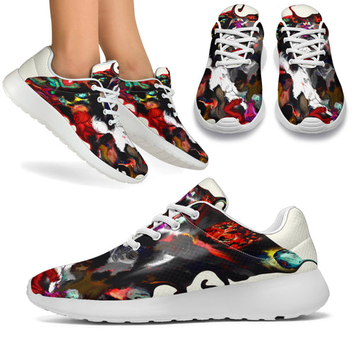 Women's sneakers/Art board abstract