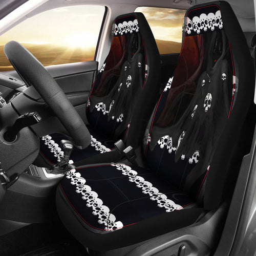 Car seat covers skulls and reaper