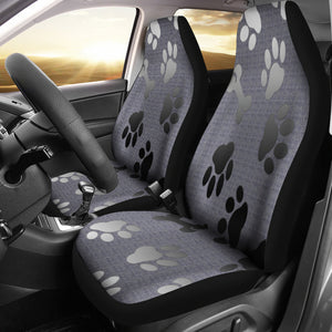 Car seat covers Silver bones & paws