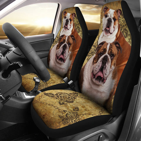 Car Seat Covers (Set of 2) bulldog