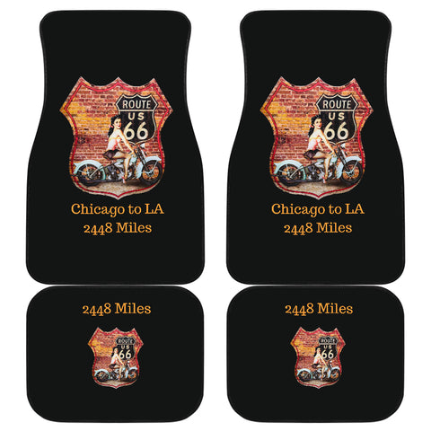 Car mats Front And Back (Set Of 4) - Route 66