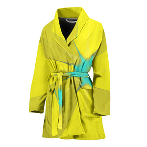 Women's robe  yellow and turquoise12