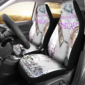 Car seat covers Abstract dj wait for the drop