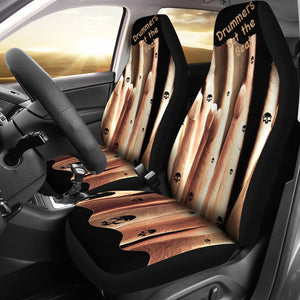 Car seat covers drummer sticks