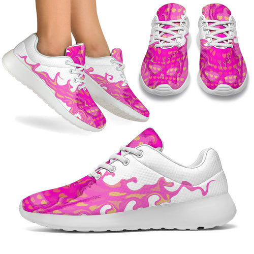 Women's sneakers/Pink heart skull