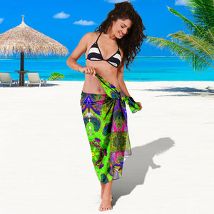 Sarong Purple/green