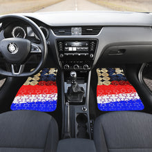 Car mats front Gun shells and patriotic