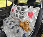 Dog car seat protector Dogs Leave PawPrint