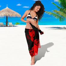 Sarong Abstract red/black