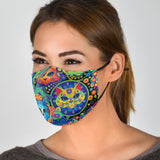 Bohemian Cats PM2.5 Activated Carbon Filter Face Mask