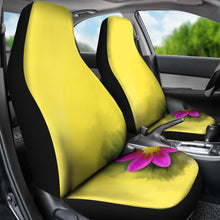 Car seat covers Yellow with pink flower print